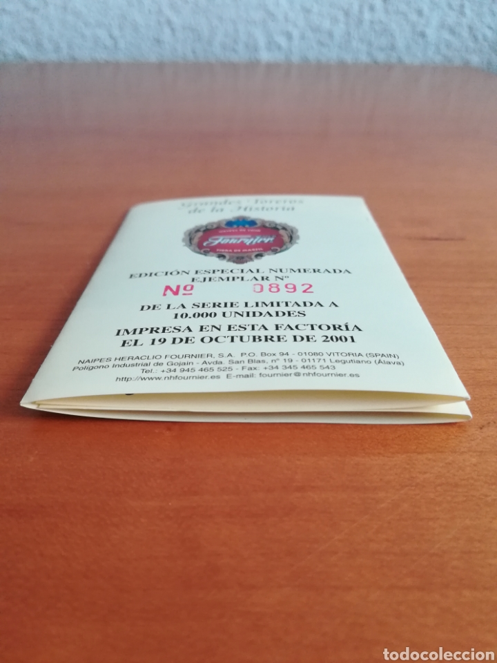 Barajas de cartas: Baraja Fournier Grandes toreros de la historia según Escacena - Caja plaza de toros - Foto 41 - 130617590