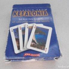 Barajas de cartas: BARAJA DE POKER COMPLETA TURISTICA DE ISLA GRIEGA KEFALONIA. Lote 130905864