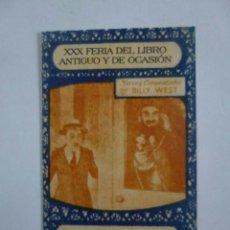 Barajas de cartas: BARAJA CINEMATOGRÁFICA, FACSÍMIL DE LA BARAJA DE CHOCOLATES JAIME BOSCH, EDICIÓN GREMIO LIBREROS.. Lote 130954096