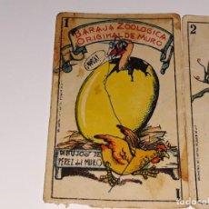 Barajas de cartas: ANTIGUA BARAJA ZOOLOGICA DE MURO CROMOS CHOCOLATES SAN JORGE JOAQUIN PEREZ VILLAJOYOSA AÑOS 30 / 40. Lote 131688590