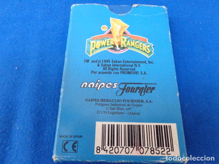 Barajas de cartas: POWER RANGERS - BARAJAS NAIPES FOURNIER POWER RANGERS AÑO 1995 VER FOTOS! - Foto 16 - 132038814