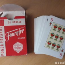 Baralhos de cartas: BARAJA POKER ESPAÑOL FOURNIER AÑOS 70 CON PUBLICIDAD HOTEL REGIO. Lote 132227842
