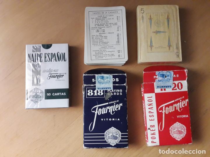 TRES BARAJAS FOURNIER (Juguetes y Juegos - Cartas y Naipes - Barajas de Póker)
