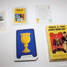 Barajas de cartas: BARAJA DE TAROT JAMES BOND 007 - DIBUJOS ORIGINALES FERGUS HALL - COMPLETA - AÑO 73. Lote 132279566