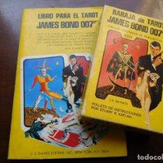 Barajas de cartas: BARAJA DE TAROT JAMES BOND 007 COMPLETA DIBUJOS FERGUS HALL AÑO 1973. Lote 132475846