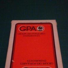 Barajas de cartas: TURNHOUT BELGICA CARTA MUNDI BARAJA BRIDGE - PUBLICIDAD GPA. Lote 132556918