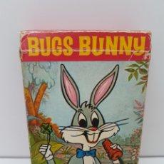 Barajas de cartas: BARAJA DE CARTAS INFANTIL BUGS BUNNY - EL CONEJO DE LA SUERTE - AÑO 1970. Lote 132787682