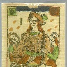 Barajas de cartas: ANTIGUA BARAJA TAROT FLORENTINO MINCHIATE AL LEONE - ITALIA S. XVIII - NUEVA - CERTIF. COL. FOURNIER. Lote 132845610