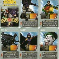 Barajas de cartas: BARAJA INFANTIL TOP TRUMPS SUPER HEROES - NUEVA. Lote 132871826