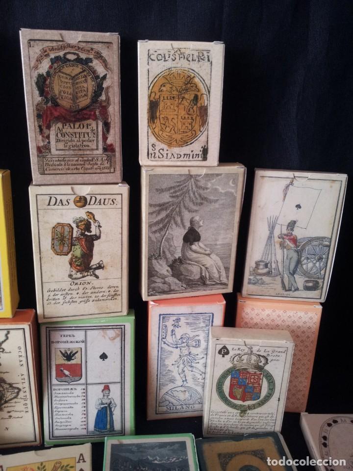 Barajas de cartas: LOTE DE 52 BARAJAS DE NAIPES FACSÍMILES DE LOS EJEMPLARES DEL MUSEO FOURNIER DE ALAVA. - Foto 4 - 132961918