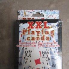 Barajas de cartas: CARTAS NAIPES BARAJA XXL PLAYING CARDS EN CAJA SIN ABRIR. Lote 132973694