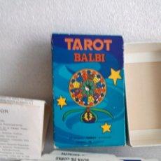 Barajas de cartas: TAROT BALBI COMPLETO EN SU CAJA ORIGINAL CON INSTRUCCIONES. AÑOS 70. Lote 134843759
