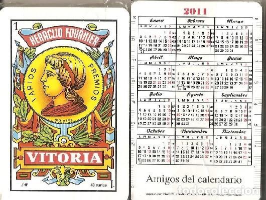 Calendario 2011 Espana.Baraja Amigos Del Calendario Fournier 2011 Reverso Calendario