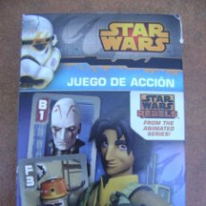 Barajas de cartas: STAR WARS REBELS , JUEGO DE CARTAS .. Lote 133256534