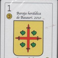 Barajas de cartas: BARAJA HERALDICA DE BASAURI (VIZCAYA)-NUEVO-VER FOTO. Lote 133257178