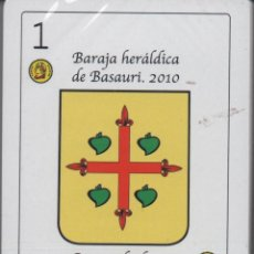 Barajas de cartas: BARAJA HERALDICA DE BASAURI (VIZCAYA)-USADO-VER FOTO. Lote 133257214