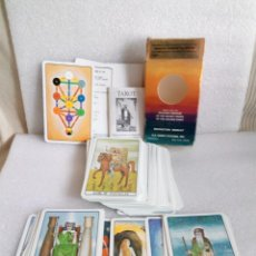 Barajas de cartas: BARAJA DE CARTAS THE GOLDEN DAWN TAROT DECK ROBERT WANG COMPLETO. Lote 133442362