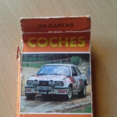 Barajas de cartas: BARAJA COCHES RALLY FOURNIER AÑO 1984. Lote 133554642