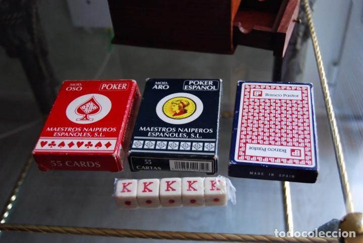 Barajas de cartas: CAJA DE MADERA DE CEDRO CON APLICACIONES DE LATÓN PARA BARAJA DE NAIPES Y POKER . - Foto 9 - 133636450