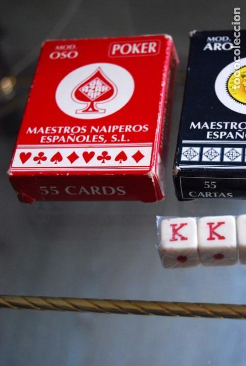 Barajas de cartas: CAJA DE MADERA DE CEDRO CON APLICACIONES DE LATÓN PARA BARAJA DE NAIPES Y POKER . - Foto 22 - 133636450