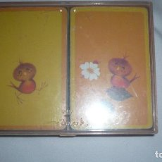 Barajas de cartas: DOS BARAJAS HALLMAMARK BRIDGE PLAYING CARDS - CHEERY CHIRPERS. Lote 133658010