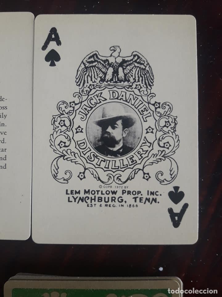 Barajas de cartas: BARAJA DE CARTAS DE PÓKER-JACK DANIELS Nº 7-WHISKY-56 NAIPES-CAJA VERDE - Foto 4 - 133819770