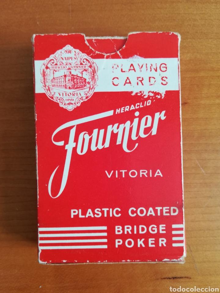 Barajas de cartas: Baraja Fournier publicidad Gulf - timbre sobre naipe Esquinas doradas - Vitoria - aceite motor oil - Foto 8 - 133863126