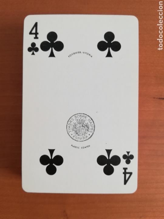 Barajas de cartas: Baraja Fournier publicidad Gulf - timbre sobre naipe Esquinas doradas - Vitoria - aceite motor oil - Foto 11 - 133863126