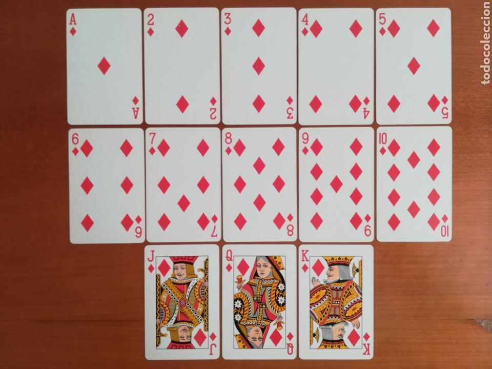 Barajas de cartas: Baraja Fournier publicidad Gulf - timbre sobre naipe Esquinas doradas - Vitoria - aceite motor oil - Foto 21 - 133863126