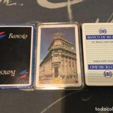 Barajas de cartas: LOTE ANTIGUAS BARAJAS CARTAS FOURNIER BANESTO BANCO CENTRAL BANCO BILBAO . Lote 133983870