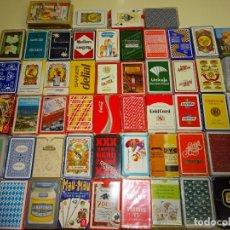 Barajas de cartas - LOTE DE 50 BARAJAS DE CARTAS DISTINTAS- ESPAÑOLAS, POKER. PUBLICITARIAS, FOURNIER, INFANTILES. - 134051534