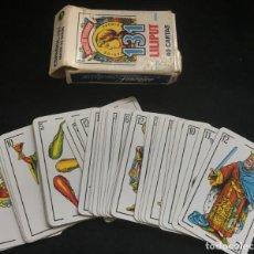 Barajas de cartas: BARAJA DE 40 CARTAS NAIPE, LILIPUT, DE HERACLIO FOURNIER, COMPLETA. Lote 134410974