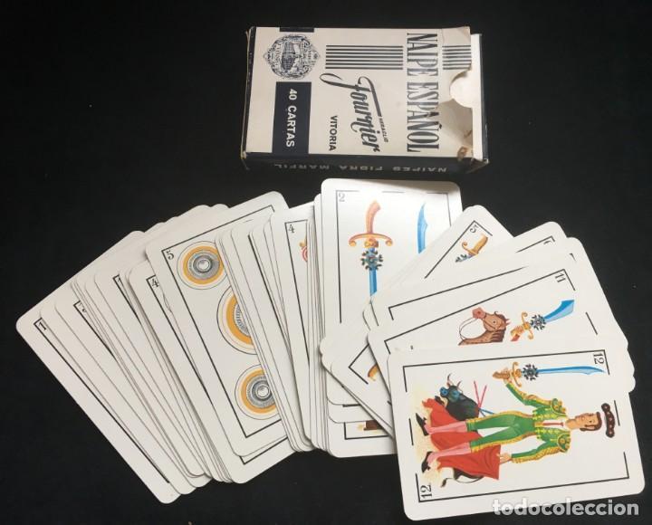 BARAJA DE 40 CARTAS NAIPE ESPAÑOL DE HERACLIO FOURNIER CON PUBLICIDAD DE MAQUINAS DE AFEITAR PHILIPS (Juguetes y Juegos - Cartas y Naipes - Baraja Española)