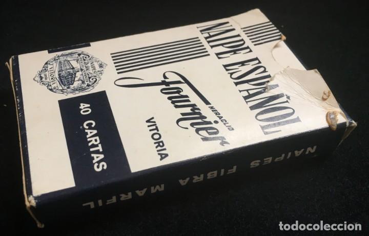 Barajas de cartas: BARAJA DE 40 CARTAS NAIPE ESPAÑOL DE HERACLIO FOURNIER CON PUBLICIDAD DE MAQUINAS DE AFEITAR PHILIPS - Foto 2 - 134411610