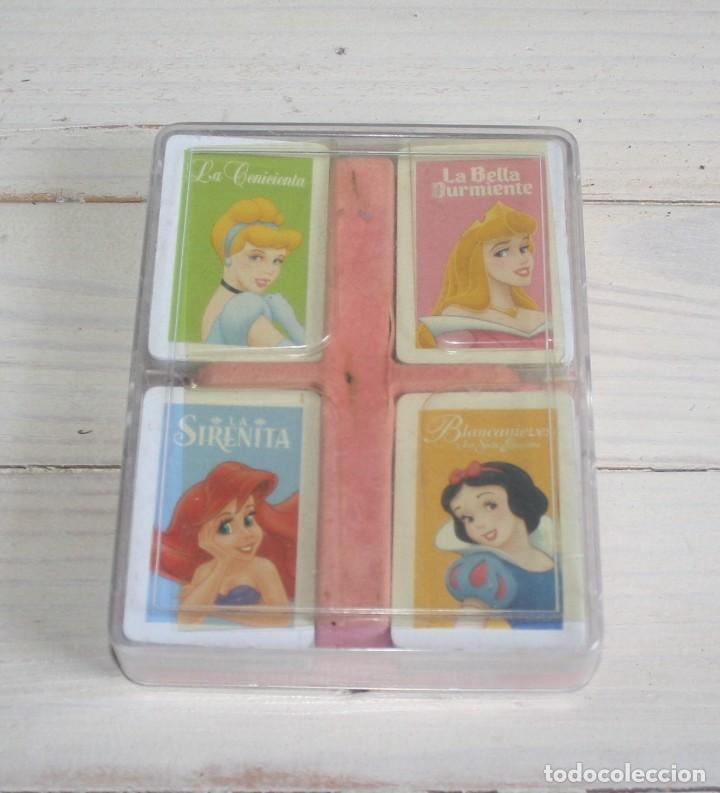 Barajas de cartas: Estuche con 4 minibarajas Princesas Disney - Foto 2 - 134581678