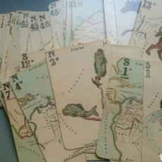 Barajas de cartas: JUEGO DE CARTAS BARAJA ASTRONOMICA ISLAS BRITANICAS SIGO XIX REPRODUCCION. Lote 134763707