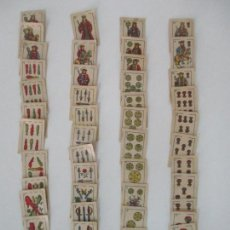 Barajas de cartas: PEQUEÑA BARAJA ANTIGUA - NAIPES - COMPLETA - 2,7 CM ANCHO 3,6 CM ALTURA - RARO - DE COLECCIÓN. Lote 134824810