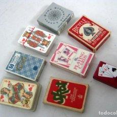 Barajas de cartas: LOTE BARAJAS DE CARTAS VINTAGE POKER - RARAS. Lote 134865658
