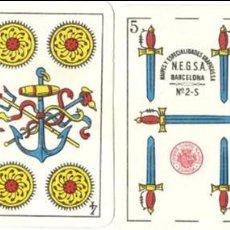Barajas de cartas: BARAJA, NESGA Nº 2-S, NAIPES SAMSÓ-BARCELONA DE UNA HOJA, 40 NAIPES. Lote 134929722