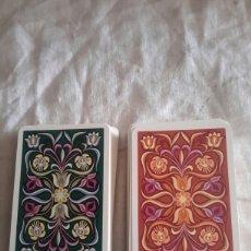 Barajas de cartas: 2 ANTIGUAS BARAJAS DE POKER. Lote 135024783