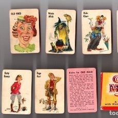 Barajas de cartas: OLD MAID. LA VIEJA CRIADA. A CARD GAME WITH RULES FOR CHILDREN. WHITMAN. COMPLETA. 42 CARTAS EN CAJA. Lote 135223393