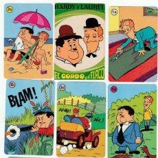 Mazzi di carte: JUEGO 32 CARTAS - EL GORDO Y EL FLACO -BARAJA INFANTIL -AÑO 1974 - H. FOURNIER -NUEVO CON REGLAMENTO. Lote 135512722