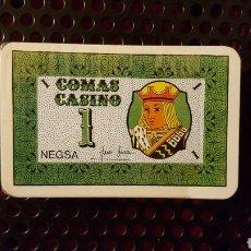 Barajas de cartas: 100 COMAS CASINO NEGSA PARA JUEGOS. Lote 135829727
