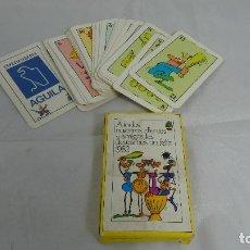 Jeux de cartes: BARAJA - 50 GALLONAIPES - ILUSTRADAS DE HUMOR - COMPLETA - PASTAS GALLO - PASTAS ÀGUILA. Lote 136046246