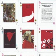 Barajas de cartas: BARAJA ESPAÑOLA SAN FERMIN-FOURNIER-AÑO 2001. Lote 136157434