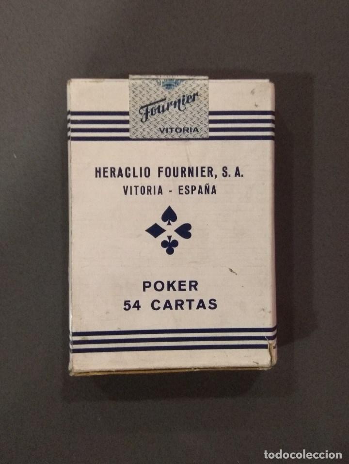 Barajas de cartas: ANTIGUA BARAJA DE CARTAS HERACLIO FOURNIER POKER 54 CARTAS PRECINTADA - Foto 2 - 136180922