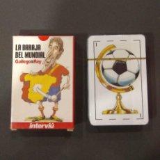 Jeux de cartes: LA BARAJA DEL MUNDIAL. GALLEGO & REY. INTERVIÚ. CARTAS. MUNDIAL DE FUTBOL 2006.GRUPO Z. PRECINTADA.. Lote 200041603