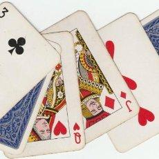 Barajas de cartas: NAIPES POCKER COMPLETO - 54 CARTAS - TAMAÑO PEQUEÑO 5 CM. X 7,50 CM. HERACLIO FOURNIER -USADA Nº 374. Lote 136195870