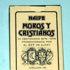 Barajas de cartas: MOROS Y CRISTIANOS ALCOY 1976 , HERACLIO FOURNIER, COMPLETA PRECINTADA SIN ABRIR CON SU CAJA. Lote 136242886