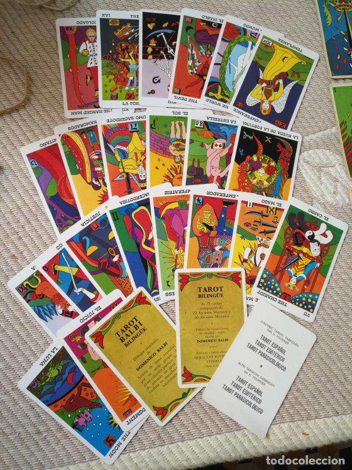 Barajas de cartas: Tarot Balbi completo 78 CARTAS en su caja original con instrucciones. Años 70 FOURNIER HERACLIO - Foto 15 - 136258446